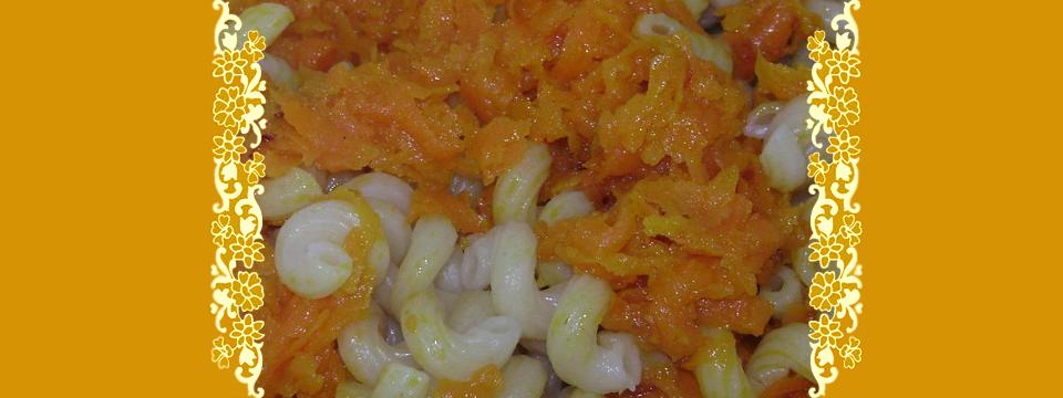Макароны с морковью